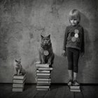 Cool Photos: A Girl & Her Cat by Andy Prokh