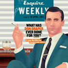 Magazine Creative: Esquire Weekly's Don Draper Cover