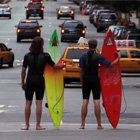 Viral Video: New York City Street Surfing