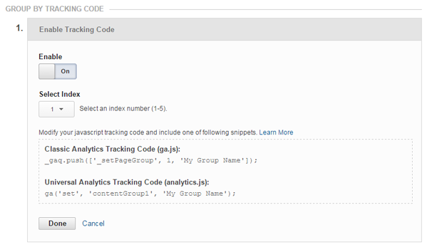 Tracking Code Method