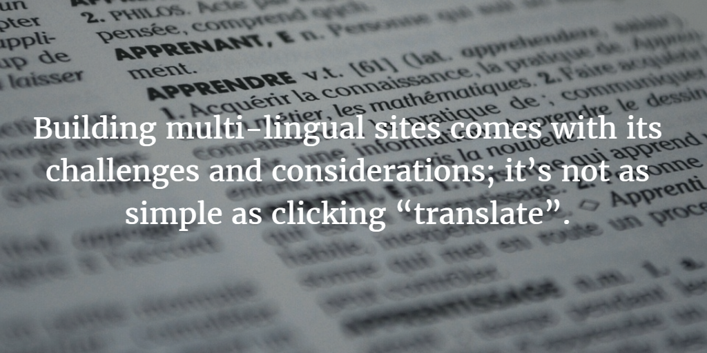 multilingual website best practices