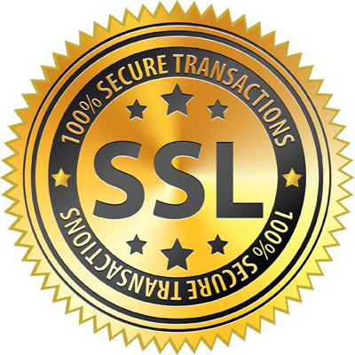 100% Secure Transaction - SSL Certificate