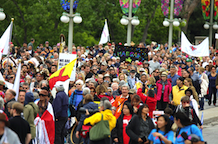Walk for reconciliation a celebration and a reminder