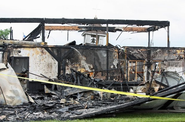 Fire destroys Anglican church