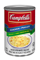 campbells condense poulet avec riz blanc et riz sauvage