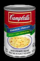 campbells condense poulet avec riz blanc et riz sauvage