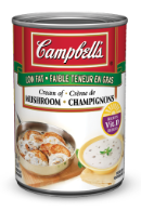 campbells condensed low fat cream of mushroom