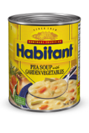 habitant pea soup with garden vegetables