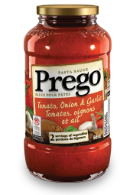 prego tomato onion garlic pasta sauce 645 ml