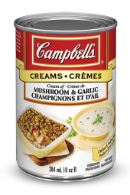 campbells condensed cream of mushroom and garlic