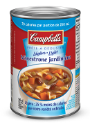campbells prte dguster lgre minestrone jardinire