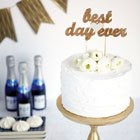 Our favourite unique wedding cake toppers