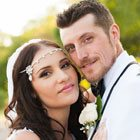 A Wedding by the Lake with Black & White Details in Oshawa, Ontario