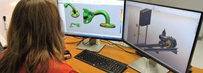 Woman working with 3D design software