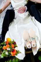 Wearing Comfortable Shoes with Your Wedding Dress