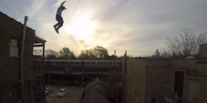 Watch: Epic Roof Jump