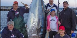12-Year-Old Canadian Girl Catches a 600+ Pound Fish