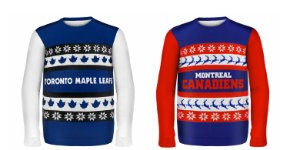 Ugly NHL Christmas Sweaters