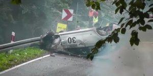 Rally Car Racer Walks Away from Insane Crash
