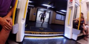 Ridiculously Fast Man Beats London Tube Train in Race