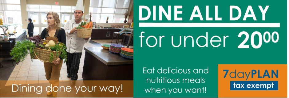 Dine all Day for Under 20