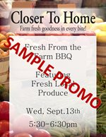 Fresh From the Farm Sample Promo