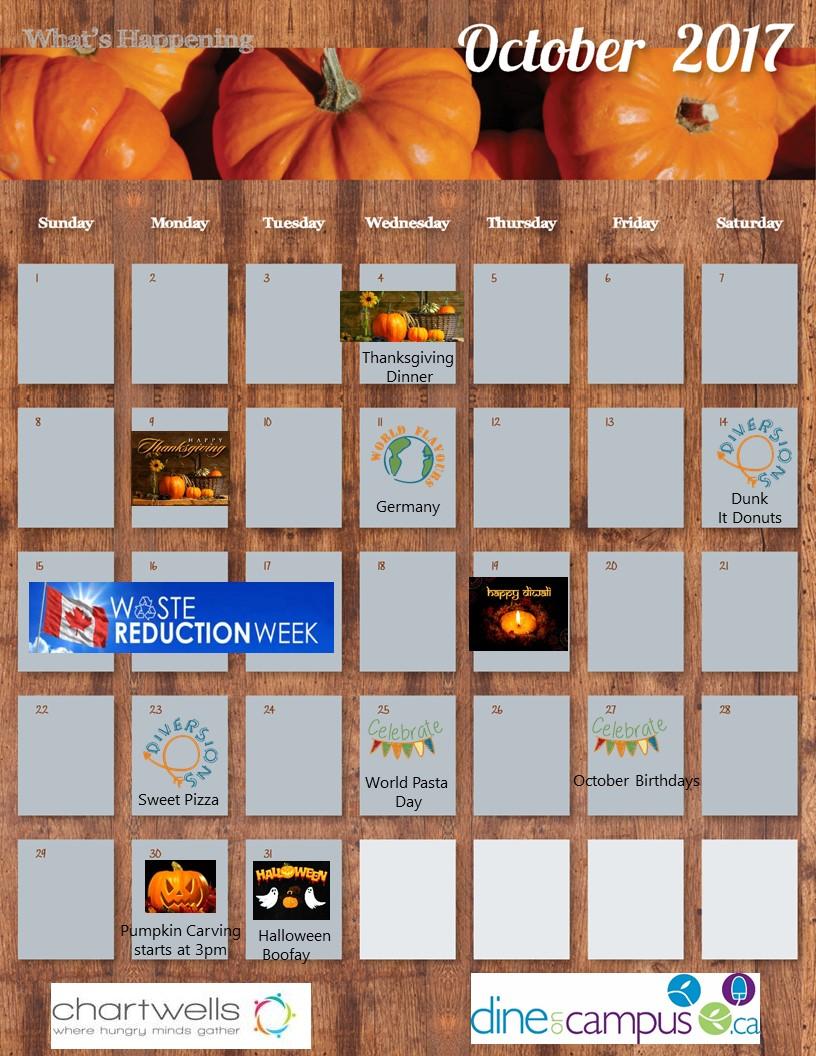 Harris Hall calendar