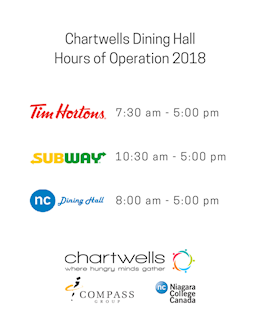 Chartwells Hours of Operation