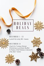 Dining Hall Holiday Deals