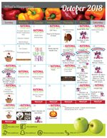Wheelock Dining Hall October Calendar