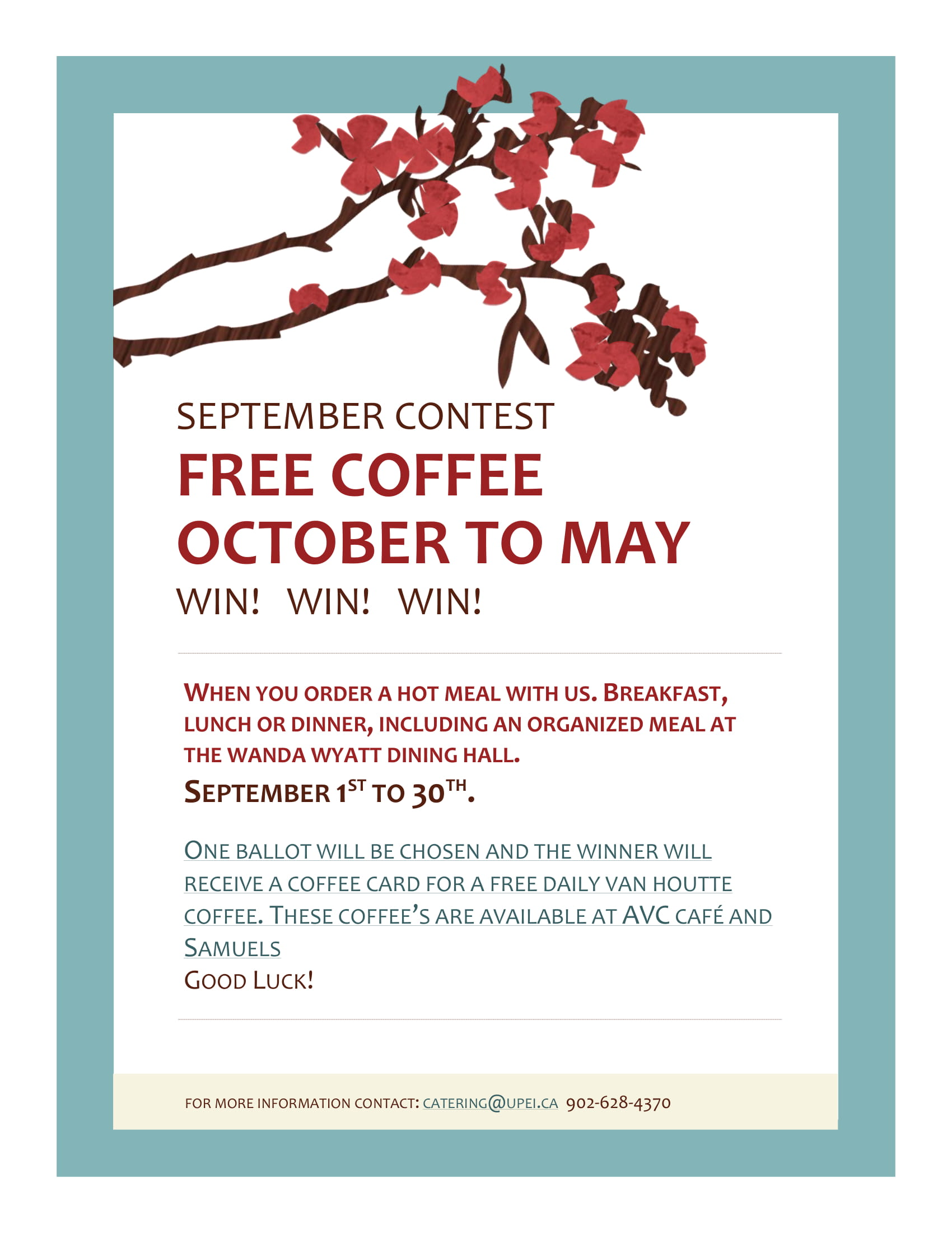 September Contest: Free Coffee Raffle