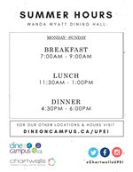 Wanda Wyatt Dining Hall Summer Hours