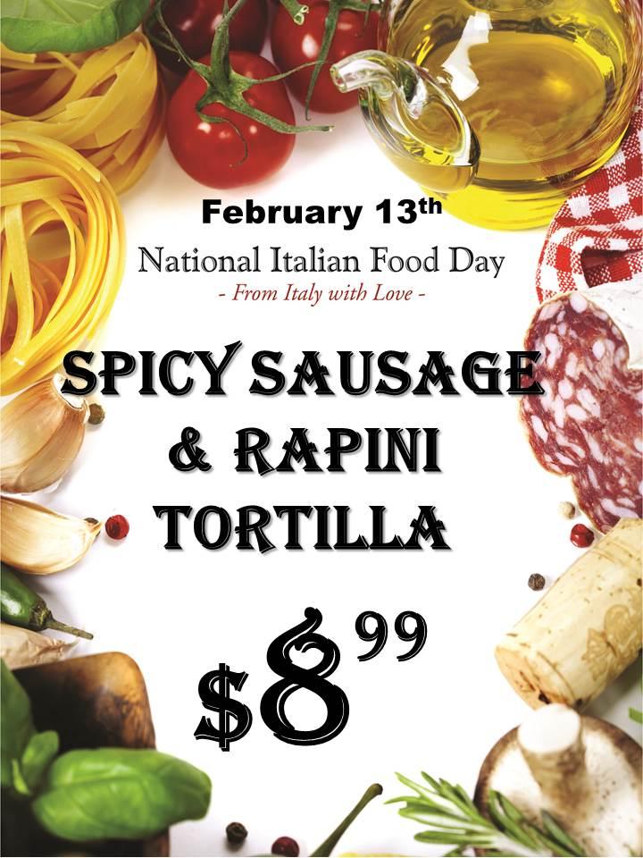 Spicy Sausage & Rapini Tortilla