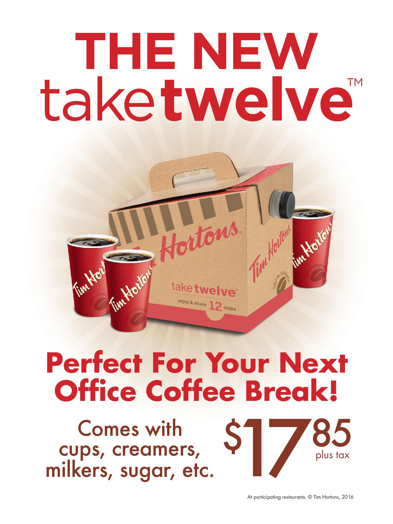 Take Twelve | Tim Hortons
