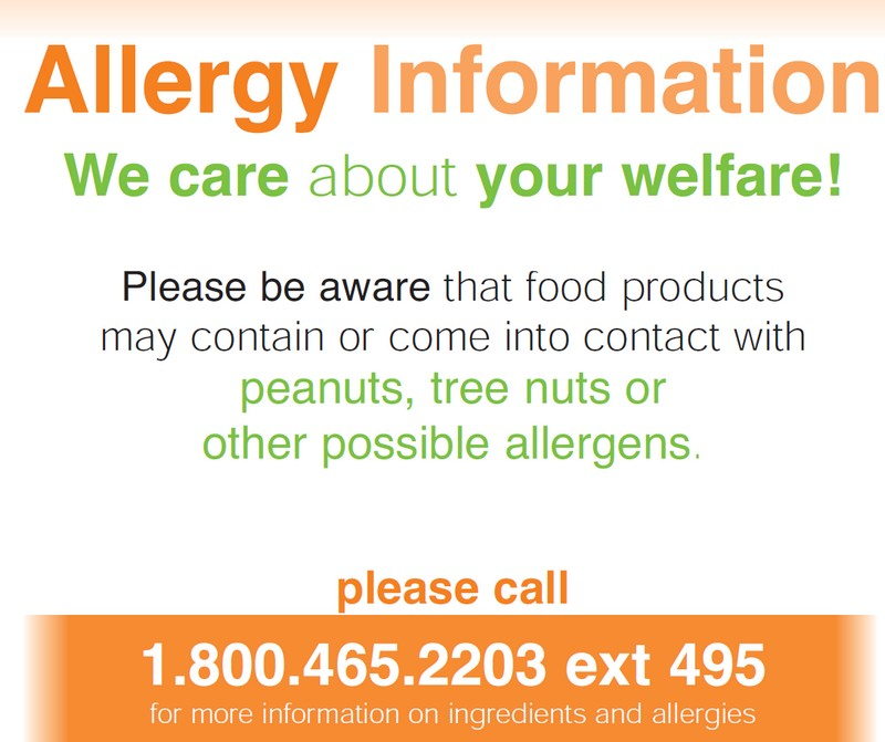 Allergy Sign Click to read