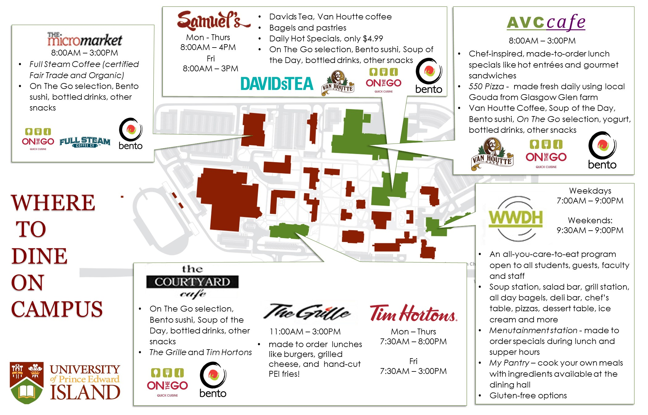 upei dining map