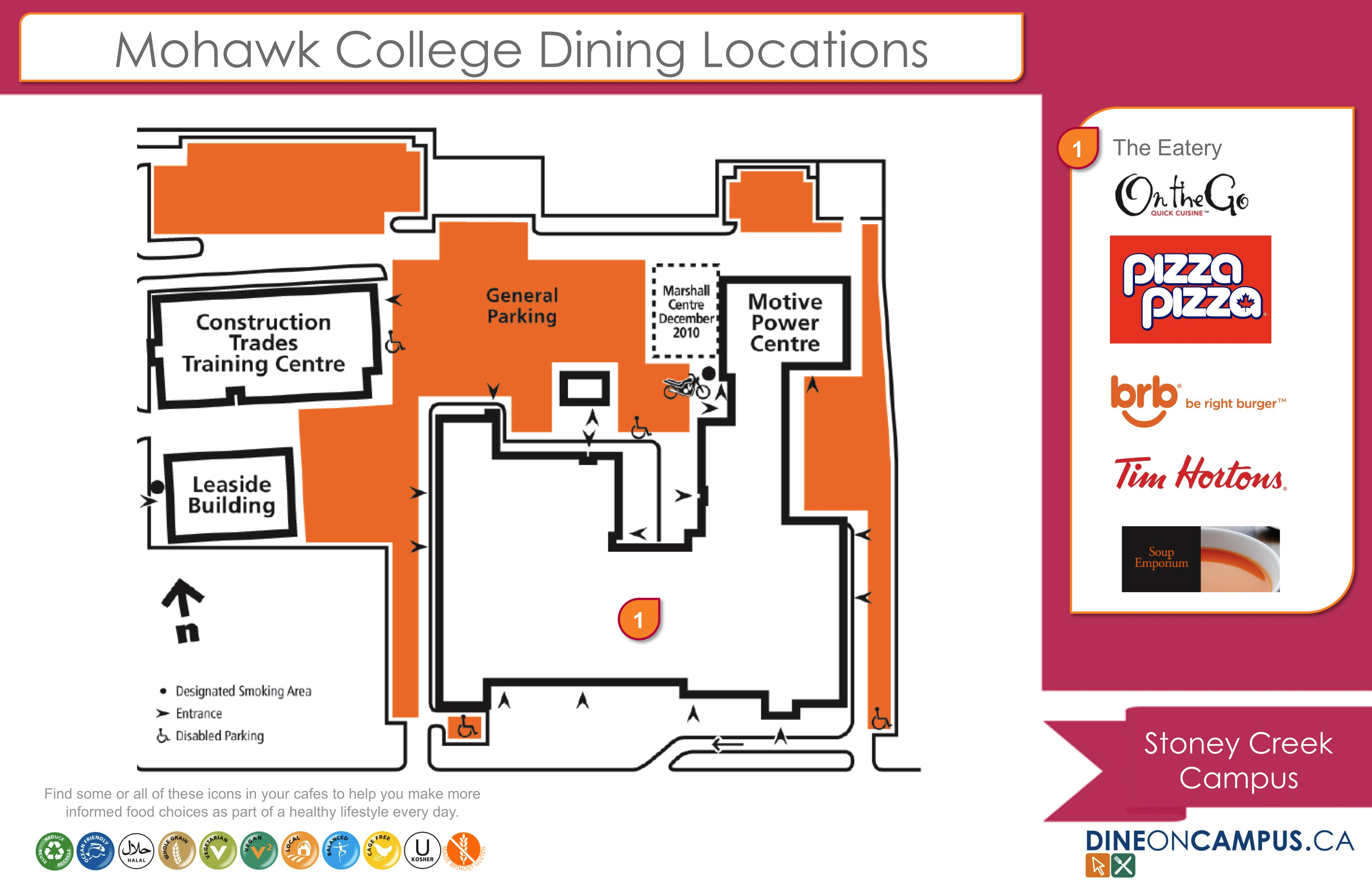 Stoney Creek Campus Map