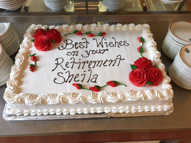 Sheila's retirement