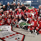 Notre Dame Hounds Cap Perfect TELUS Cup with Championship