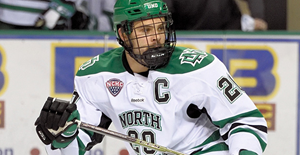 University of North Dakota Fighting Hawks captain Gage Ausmus