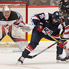 Canada's Saulnier Nets Winner over U.S. Women's Hockey Team