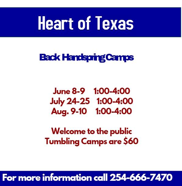 Back Handspring Camp - Heart of Texas Cheer