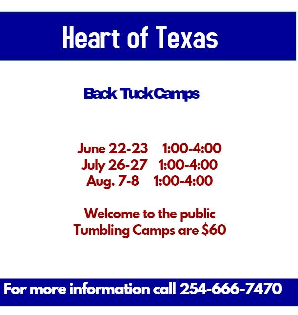 Back Tuck Camp - Heart of Texas Cheer