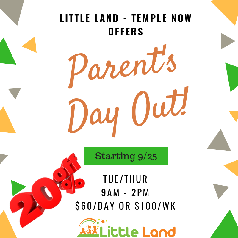 Parents Day Out - Little Land Play Gym Temple