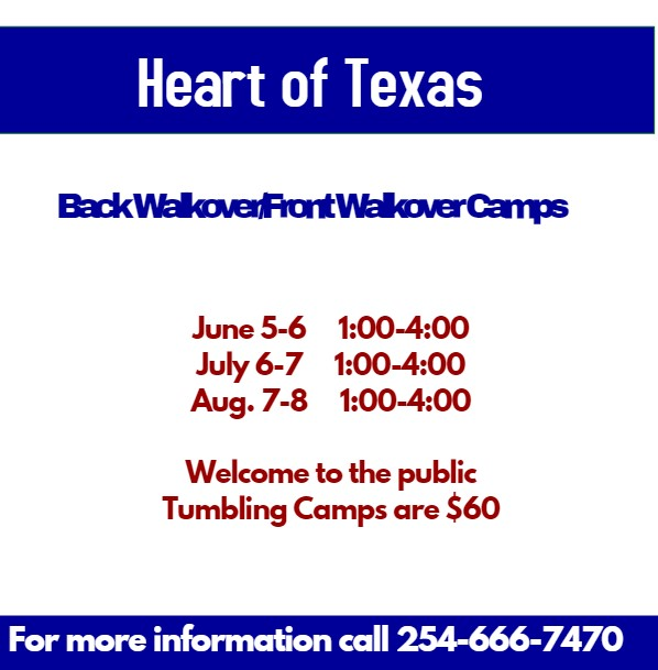 Back Walkover/Front Walkover Camp - Heart of Texas Cheer