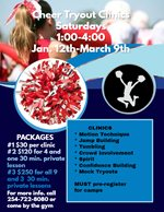 Cheer Tryout Cilnics - Heart of Texas Cheer