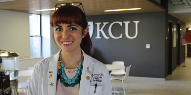 Medical student Serena DiMattia at KCU