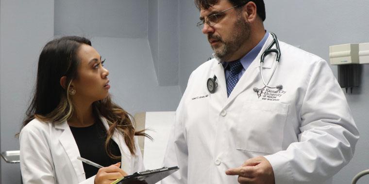 Robert Arnce, DO, and Student Doctor Dia