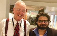 Dr. J and Faiz Kidwai