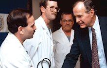 Hahn and President Bush